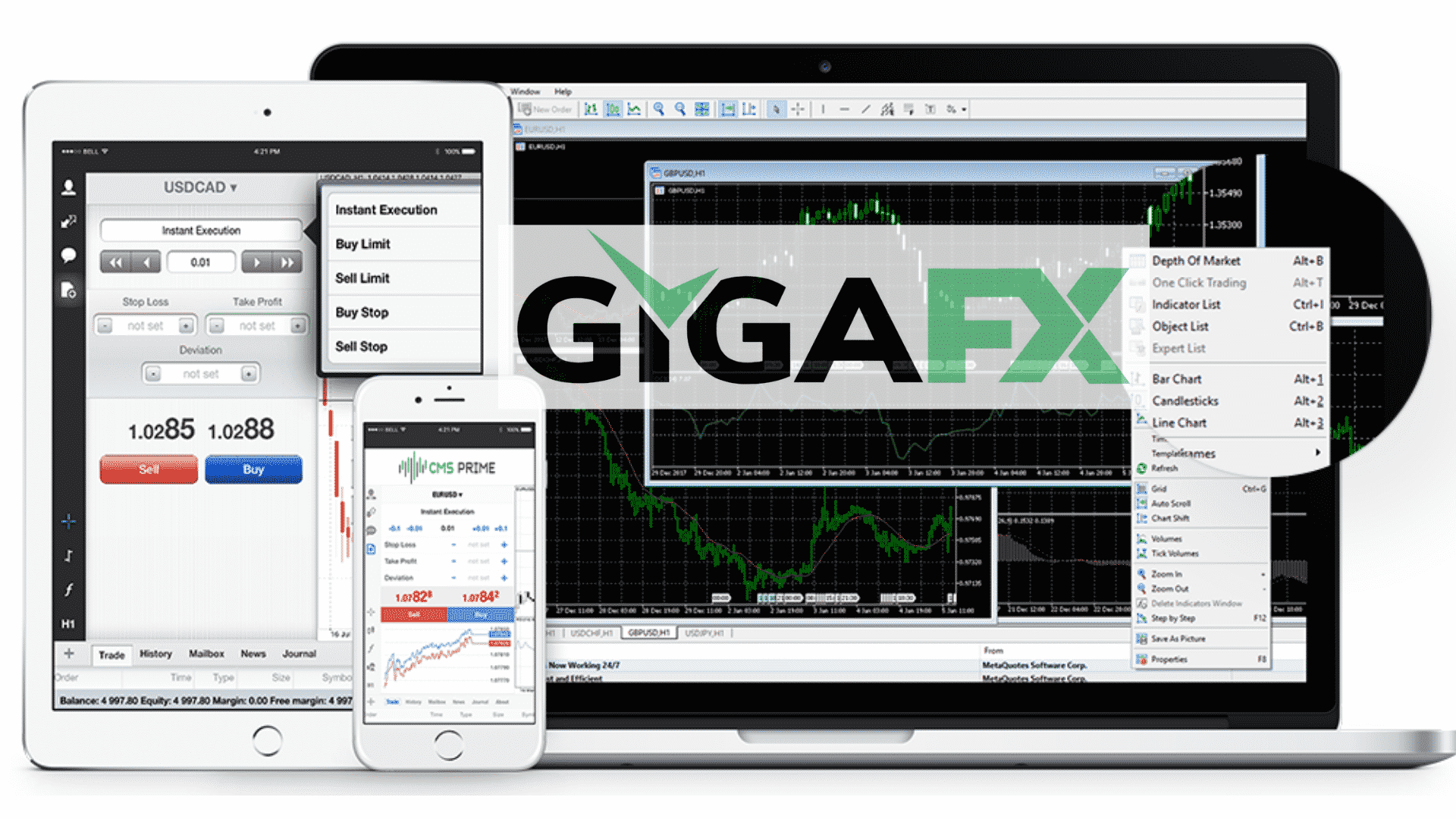 GigaFX - trading platform with advanced tools
