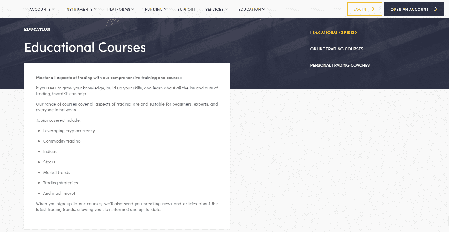 InvestXE Review- Learn Trading With Educational Courses
